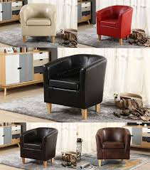 100 Sofa Living Room Modern WestWood Faux Leather PU Tub Chair Armchair Dining