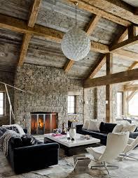 moderne rustikale interiors wohnzimmer design rustikales