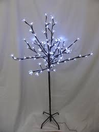5ft Christmas Tree With Led Lights by Light Up 1 8m 6ft White Christmas Blossom Tree Decoration With Led