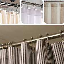 12 stück metall doppel schiebetür badezimmer dusche vorhang