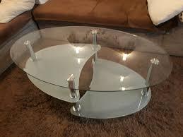 wohnzimmer glastisch oval
