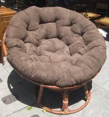 furniture rattan papasan chair with dimgray cushion ideas