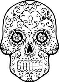 Sugar Skull Pumpkin Carving Patterns by Sugar Skull Coloring Pages Getcoloringpages Com