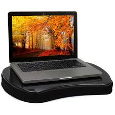 sofia sam mini memory foam lap desk with tablet slot black with