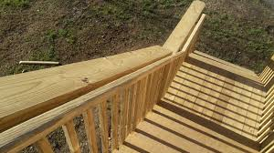 Stair railing height for decks ramps and interiors