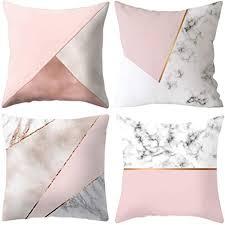 yxflower 4er set gold rosa kissen dekor kissenhülle 45 x 45cm für zuhause und sofa schlafzimmer dekoration