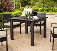 Qvc Kitchen Table And Chairs With Palm Harbor Outdoor Wicker 42 Square Dining QVC Com