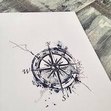 Nautical Compass Tattoo Design