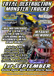 Total Destruction Monster Trucks At Maryborough Speedway - Wide Bay Kids Monster Trucks 2018 Coffs Harbour Function Centre Showgrounds Jam Truck Show Discount Tickets Coming To Tacoma Dome In Win Toronto I Dont Blog But If Did State Farm Stadium Thrdown Events Photos Videos 20 Things You Didnt Know About Monster Trucks As Comes Traxxas Monster Truck Crown Complex No Limits Featuring Bigfoot Salem Va 24153 Page 3 Jamst Louis Kids Out And About St Monstertruck Poster