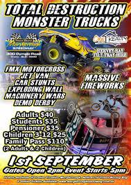 100 Kids Monster Trucks Total Destruction At Maryborough Speedway Wide Bay
