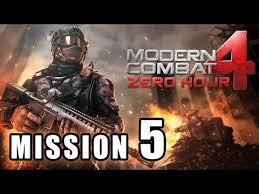 modern combat 4 zero hour walkthrough part 5 mission 5 threatcon