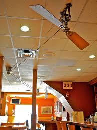 fanimation pulleys the brewmaster belt drive ceiling fan by