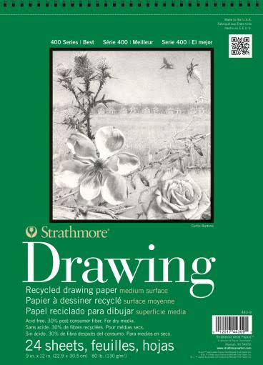 Strathmore Series 400 Premium Recycled Drawing Pads - 28cm x 36cm