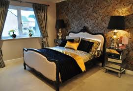 Red And Gold Bedroom Ideas Black