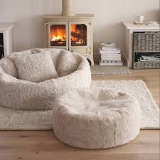 Huge Fluffy Bean Bag Chair And Ottoman