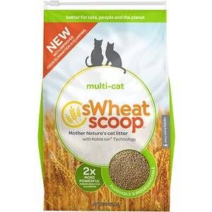 sWheat Scoop Multi-Cat All-Natural Clumping Cat Litter - 25lb