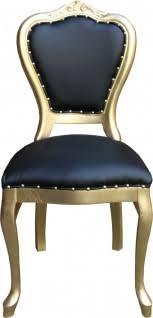 casa padrino barock luxus esszimmer stuhl schwarz kunstleder gold handgefertigte möbel