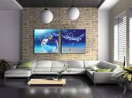 2 stücke rahmen leinwand malen moderne aquarium bild ölgemälde auf leinwand für wohnkultur schöne landschaft jsyj 055