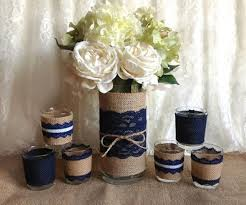 Navy And Burlap Wedding Ideas