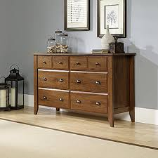 Ebay Dressers With Mirrors by Sauder Shoal Creek 6 Drawer Oiled Oak Dresser 410287 The Home Depot