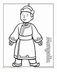 First Grade Coloring Worksheets Multicultural Mongolia