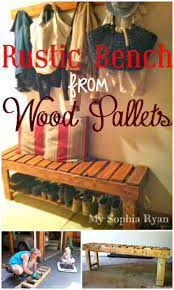 Easy DIY Rustic Entryway Bench Made From Pallets Tutorial