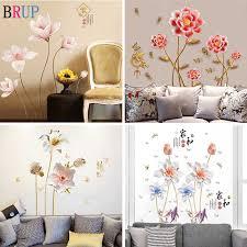 24 arten große blumen wand aufkleber schlafzimmer tv sofa romantische blumen hause dekore diy wandbild wall decals vinyl tapete