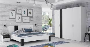 schlafzimmer helana 2 weiß schwarz matt