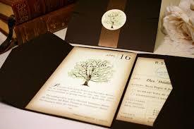 Vintage Book Wedding Invitation Rustic Invitations