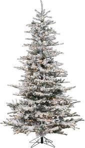 Flocked Artificial Christmas Trees Sale by Lark Manor Pre Lit 85 White Spruce Trees Artificial Christmas Pre