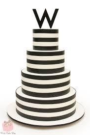 Black and White B nai Mitzvah Cake