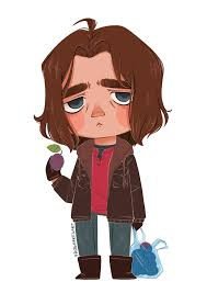 Teeny Tiny Bucky Just Wants Some Plums By FrogMakesArt