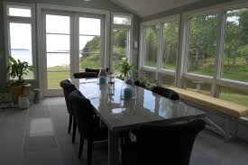 Portland Maine Dining Room Buffet Farmhouse With Counter Window Treatment Professionals White Crown Molding