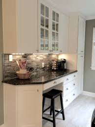 White Cabinets Dark Countertop What Color Backsplash by My Beautiful Kitchen Renovation With Allen Roth Shimmering Lights