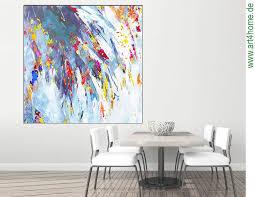 wohnen mit kunst bildern echter malerei kunst für