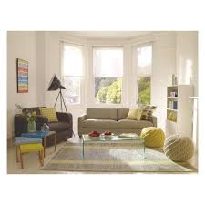BRECAN Extra Large Grey Wool Rug 200 X 300cm Living Room