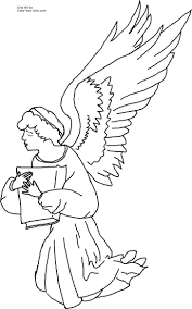 Anime Angel Coloring Pages Praying Preschool Angels Free