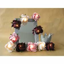 lichterkette große in bordeaux weiß rosé le für wohnzimmer kinderzimmer deko nachtlicht romantische girlande