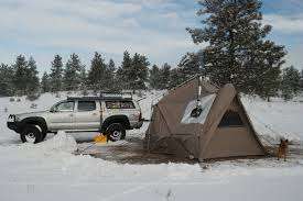 100 Camp Right Truck Tent My Experience In A FourSeason With A Wood Stove In The