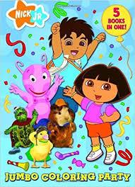 Nick JR Jumbo Coloring Party Super Book Amazoncouk Jr 9780375846304 Books