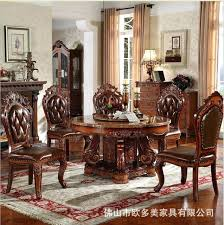 Italian Dining Room Tables Modern Style Marble Table Solid Wood Luxury Round