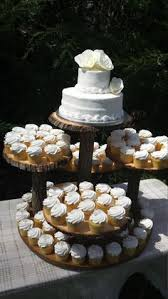 Rustic Cupcake Stand Log Tree Cake Wedding Wood