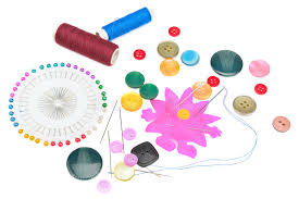 Set Buttons And Sewing Supplies Royalty Free Stock