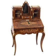 bureau bonheur du jour 19th century burr walnut inlaid bonheur du jour for sale