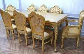 barock esszimmer tisch armlehner gold antik stil ales0690go