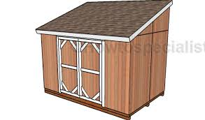 8x12 lean to shed plans howtospecialist how to build step by
