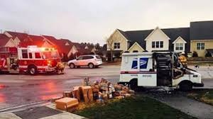 100 Postal Truck Fire Watch Worker Save Holiday Packages From Burning In Mail