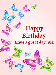 Colorful Butterflies Happy Birthday Card