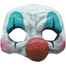 Scary Halloween Half Masks by Happy Clown Latex Half Mask Halloween Accessory Walmart Com