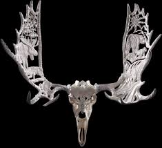 Moose Shed Antler Forums by Moose Antler Skull Sculpture Yukon Seasons 2003 By Shane Wilson